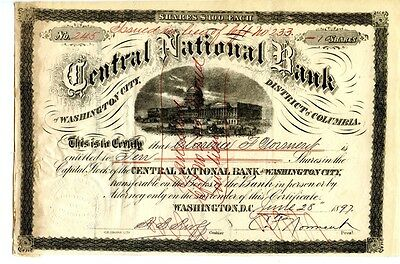 District of Columbia Bank Stock  1897