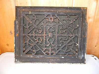 Antique Ornate Cast Iron Floor Wall Heat Grate Register Victorian 9x12