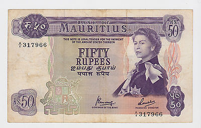 Mauritius - Fifty (50) Rupees, 1967