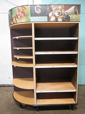 Heavy Duty Commercial Large Open Dry Bakery Display Merchandising Case/cabinet