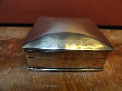 Sterling Silver Box with Hinged Lid
