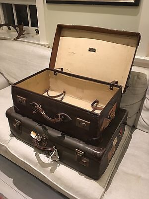 Two Vintage Suitcases C 1950's