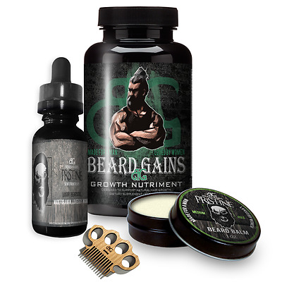 How To Grow A Beard Faster Kit! Growth Pills, Balm, Oil, Vitamins | FULL CARE