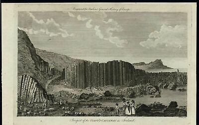 Giants Causeway Ireland Beautiful Natural Scenery c.1789 antique engraved print