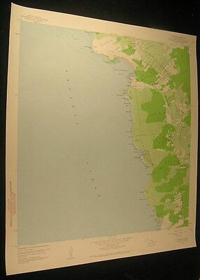 Honaunau South Kona Hawaii Loa Point 1960 antique color lithograph map