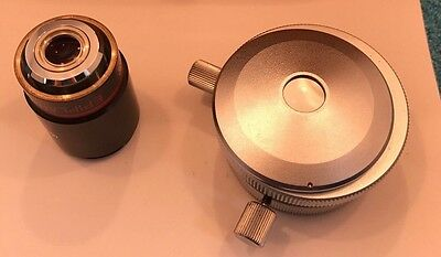 Zeiss Microscope Double Beam Interference Attachment Epiplan 4x POL Objective