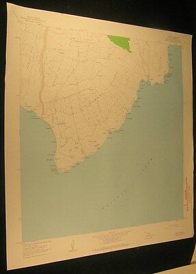Ka Lae Hawaii Kaalualu Bay Jeep Trail 1964 antique color lithograph map