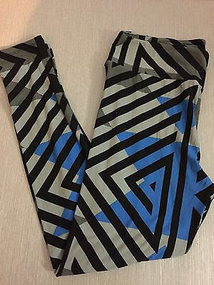 NWT Lularoe leggings Tall and Curvy TC Grey Black Blue Geometric Unicorn HTF