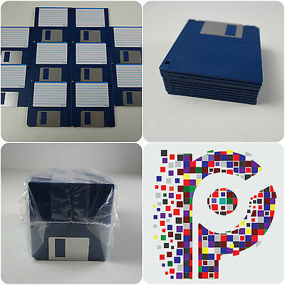 "10 Brand new Blank 3.5"" Floppy Disks Amiga formatted and perfect Atari ST DS DD"