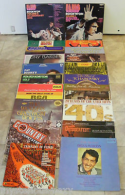 Bulk Lot of 20 Vinyl LP RECORDS ~ Various Music Artists & Bands ~ ELVIS etc.....