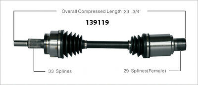 CV Axle Shaft-New Front-Left/Right WorldParts 139119