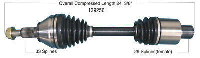 CV Axle Shaft-New Front-Left/Right WorldParts 139256