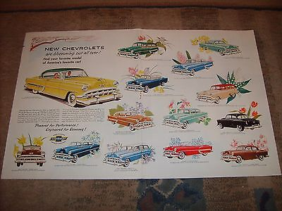 Original 1954 Chevrolet Chevy All Makes 2-Page Print Ad