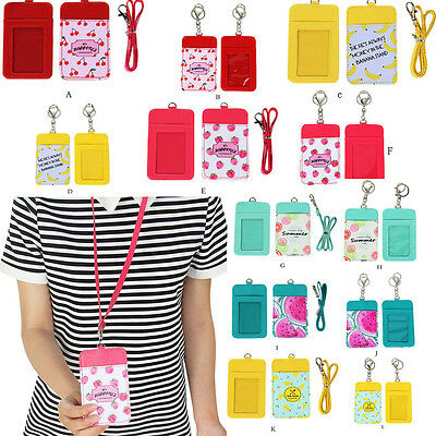 Novelty Fruits Neck Hanging Key Hook BUS & ID Card Holder Case Pouch BAG Holder