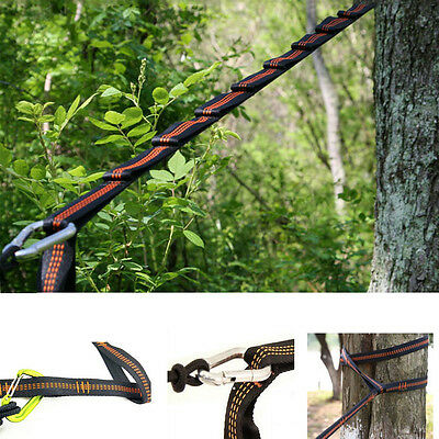 Adjustable Hanging Hammock Tree Straps Heavy Duty Extension Suspension System