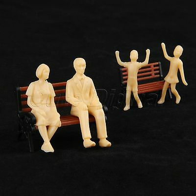 20x Skin Colored Architectural Figures Model for Train Layout Scenery 1:30 Scale