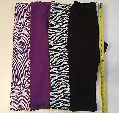 Faded Glory Children's Place Lot Of 4 Capris Leggings For Size 7-8 Girl