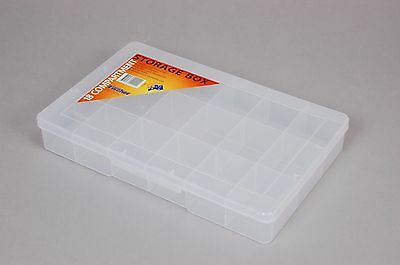 18 Compartment Plastic Storage Box Large - Fischer