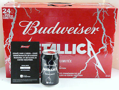 VERY RARE METALLICA  BEER UNOPENED CASE 24X355ml.  BUDWEISER SPECIAL BLEND