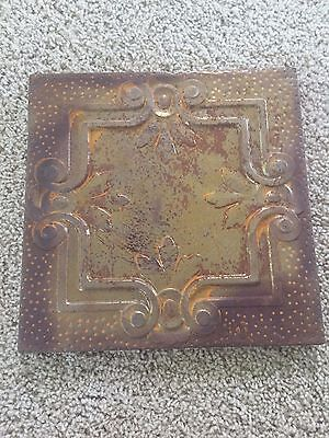 11 x 11 Antique Tin Ceiling Tile Reclaimed (4 different styles to choose from!)