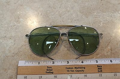 Vintage WWII Bausch & Lomb Sunglasses Pilot Ray Ban Aviator