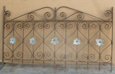 Antique Wrought Iron WINDOW GATE - Architectural Salvage - 38""