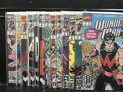 Lot of 13 Wonder Man #1 2 3 4 5 6 8 9 10 11 12 13 14 (1991 Series Marvel)