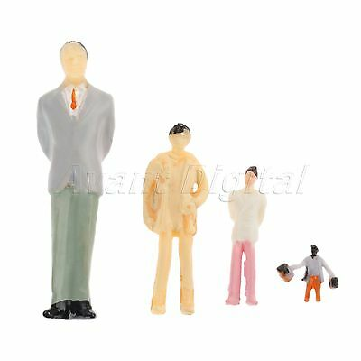 10x Assorted Pose Family Figures Model Train Scenery Layout 1:50 Scale Colorful