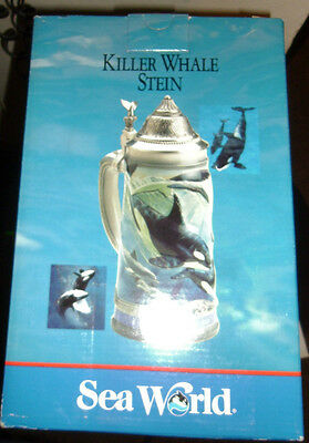 New Sea World Killer Whale Stein Limited Edition Collector Series
