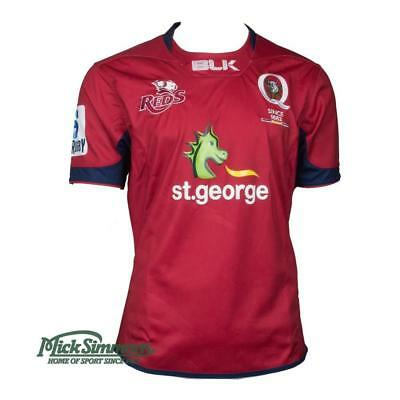 NEW Queensland Reds 2017 Men's Home Rugby Jersey by BLK