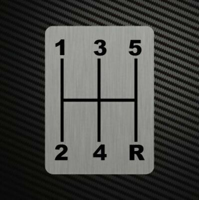 BLANK GEARSHIFT H-PATTERNS Sticker Decal Gearbox Transmission Manual