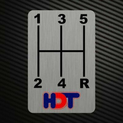 HDT GEARSHIFT H-PATTERNS Sticker Decal Gearbox Transmission Manual Race Rally