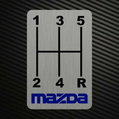 GEARSHIFT H-PATTERNS Sticker Decal Gearbox Transmission Manual MP3 MP6 for MAZDA