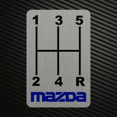MAZDA GEARSHIFT H-PATTERNS Sticker Decal Gearbox Transmission Manual MP3 MP6