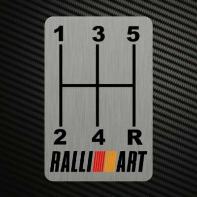 RALLIART GEARSHIFT H-PATTERNS Sticker Decal Gearbox Transmission Manual Lancer