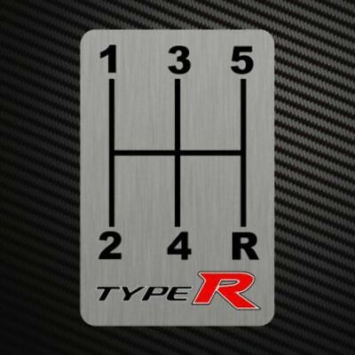 TYPE R GEARSHIFT H-PATTERNS Sticker Decal Gearbox Transmission Manual for Honda