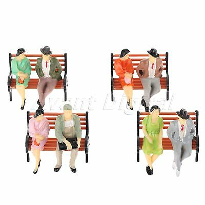 Model Seated Figures Miniature Scenery Layout 1:100 Scale Color Painted 100pcs