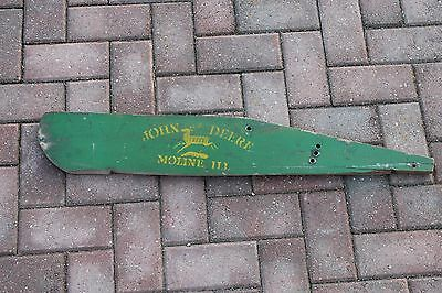 Original Wood Wooden John Deere Sign Mower Grass Board