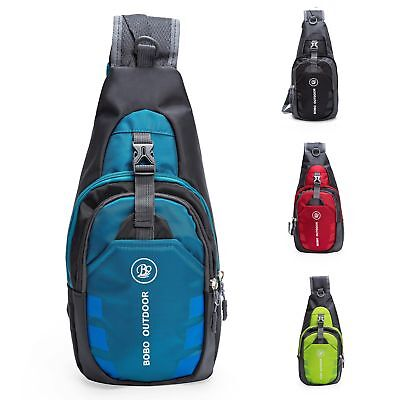 Sports Mens Shoulder Backpack Cross Body Bag Outdoor Hiking Sling Bag Chest Pack