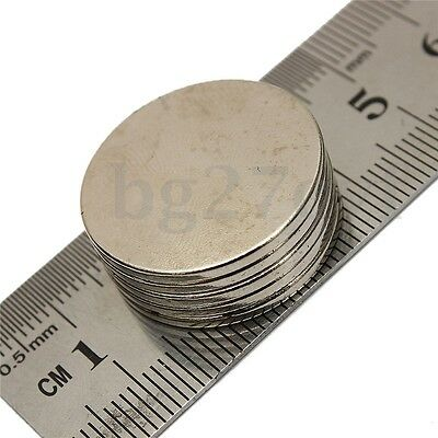 5Pcs N50 Super Strong Thin Disc Disk Rare Earth Round Magnets 25 mm x 2 mm New