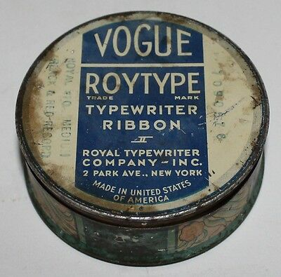 Vogue, Roytype, Typewriter Ribbon Tin
