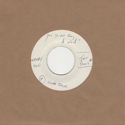 Yvonne Baker - You Didn't Say A Word / To Prove My Love Is True - Parkway Test P