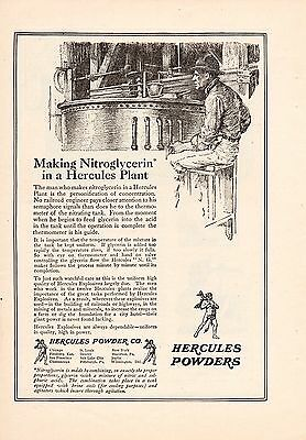 1920 Hercules Powder Ad-Making Nitroglycerin