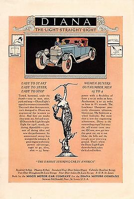 1925 Color Moon Diana Motor Car Ad