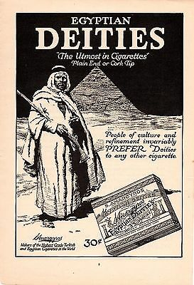 1919 Egyptian Deities Cigarettes Ad-Arab With Rifle