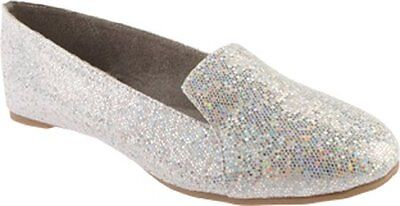 BENJ-848231008361-Touch Ups Womens Tammy Flat,Silver Iridescent,9.5 M US