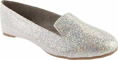 BENJ-848231008378-Touch Ups Womens Tammy Flat,Silver Iridescent,10 M US