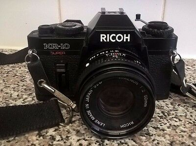 Ricoh KR-10 Super 35mm Camera with Rikenon 50mm f/2.0 Lens - Tested