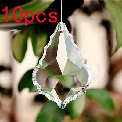 10pcs 1.5*1 inch Clear Chandelier Glass Crystal Lamp Prisms Hanging Drop Pendant