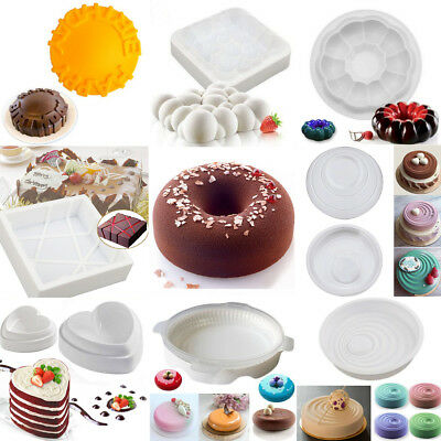 Silicone Fondant Cake Pan Mold Mousse Chocolate Pastry Bakeware Baking Tool